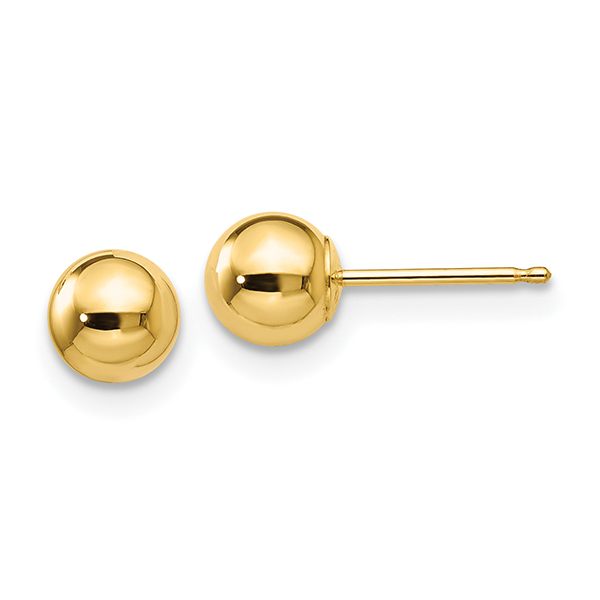 Traditional Ball Earring (Gold)