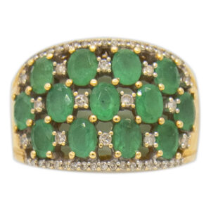 14kt YG Emerald and Diamond Ring