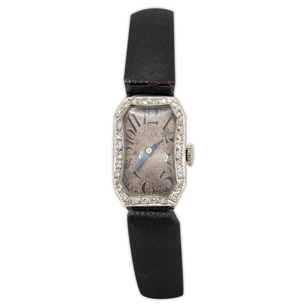 Platinum and Diamond Watch